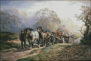 A Logging Team Returning Home