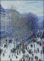 Boulevard Des Capucines in Winter