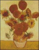 Fifteen Sunflowers in a Vase